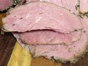 Fresh roast beef for sandwiches